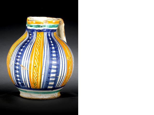 Tuscan maiolica jug