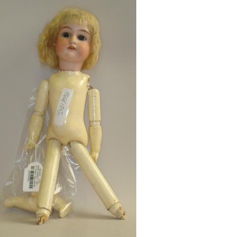 A.M 'Floradora' bisque head doll