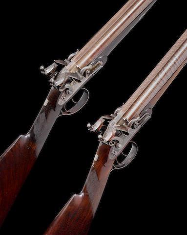 A Fine Cased 16-Bore D.B. Flintlock Sporting Gun