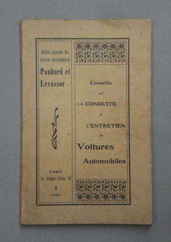 A Panhard et Levassor manufacturers handbook, 1900-1909,