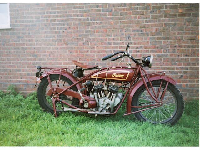 c.1926 Indian 600cc Scout Frame no. F53V132 Engine no. 53V132