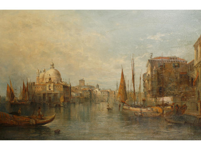 Alfred Pollentine (British, 1836-1890) Santa Maria della Salute from the Grand Canal, Venice