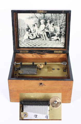 A Symphonion 7.1/2-inch disc musical box, early 20th century,