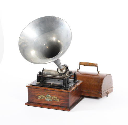 An Edison Bell Gem phonograph, circa 1899,
