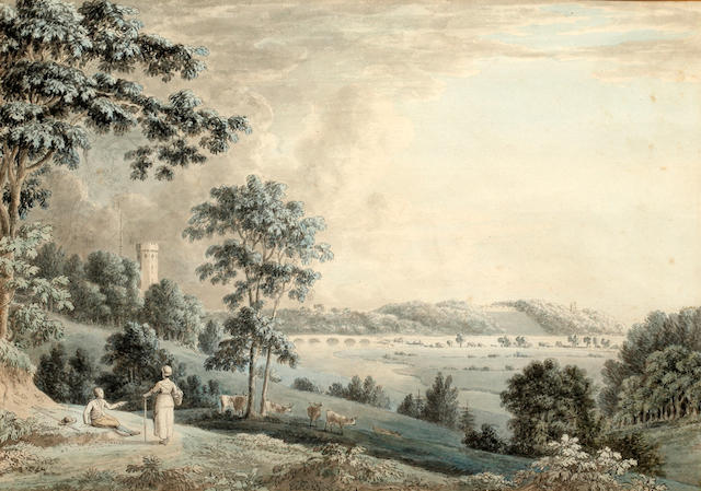 Anthony Devis (Prestwood 1729-1816 Albury) Penwortham on Ribble