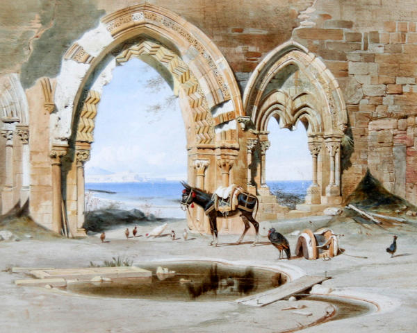 Carl Friedrich Heinrich Werner (German, 1808-1894) 'Ruins near Palermo'