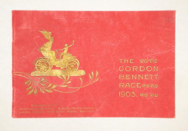A Gordon Bennett Race Continental tyres publicity brochure, 1903,