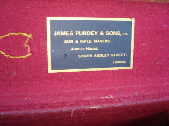 A James Purdey & Sons double leather shotgun case