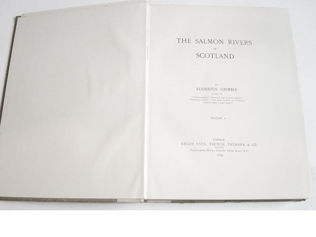 GRIMBLE (AUGUSTUS) The Salmon Rivers of Scotland, 4 volumes (4)