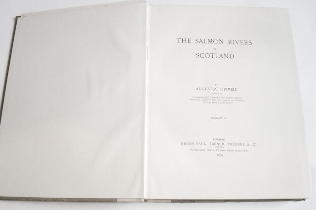 GRIMBLE (AUGUSTUS) The Salmon Rivers of Scotland, 4 volumes (4)