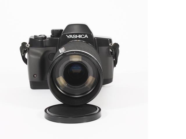 A Yashica Dental-Eye III 35mm SLR camera