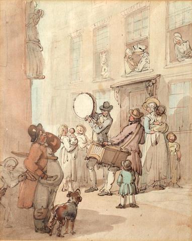 Thomas Rowlandson (British, 1756-1827) Street Musicians