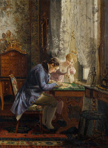 Johann Hamza (German, 1850-1927) Decorating a fan