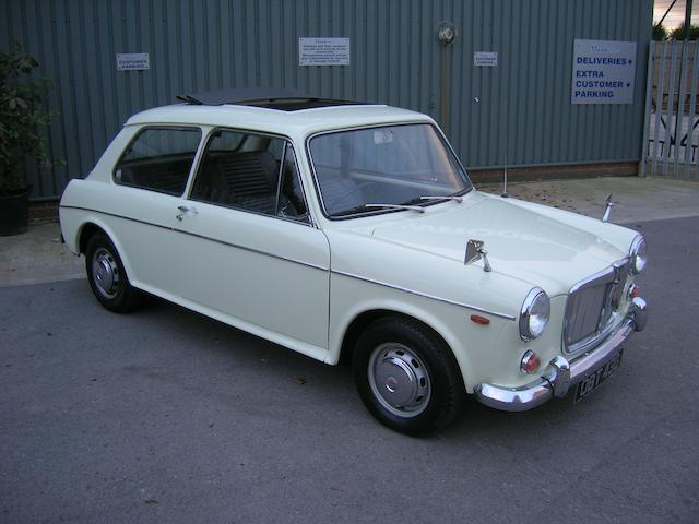 1968 MG 1300 Mk II Saloon  Chassis no. G/AS4131413M Engine no. H5369