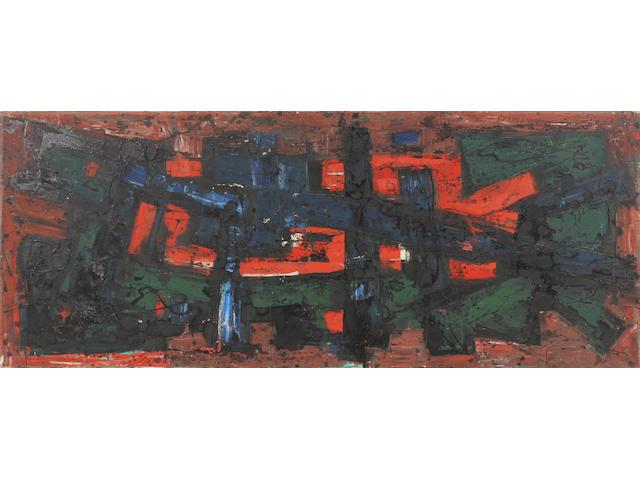 Frank Avray Wilson (British, 1914-2009) 'Summation' 73 x 164cm. Unframed