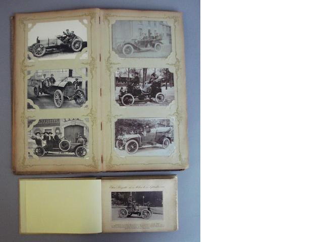 A fine collection of early motoring postcards dating from 1901 to the 1920s,