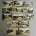 Thirteen postcards of the Circuit de la Sarthe 1906,
