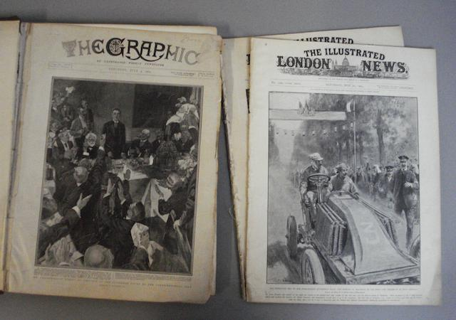 A bound copy of The Graphic, 1903,