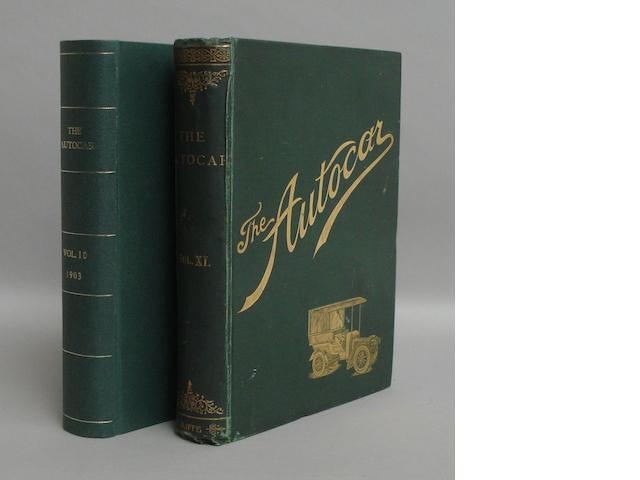 Two bound volumes of Autocar magazine,
