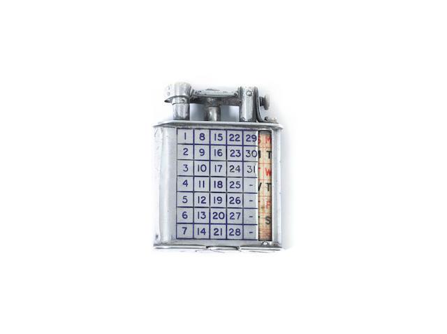 DUNHILL: calender pocket lighter