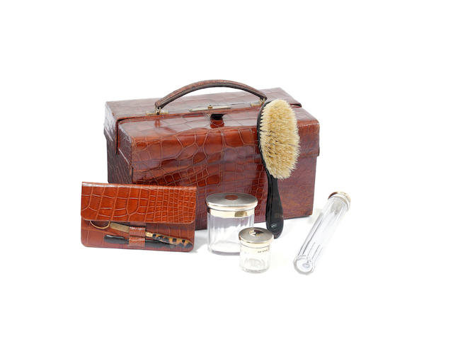 As Asprey cased vanity set