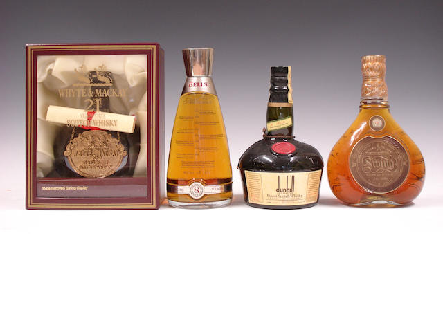 Whyte & MacKay-21 year oldBell's-8 year oldDunhill Old Master (2)Johnnie Walker Swing (2)