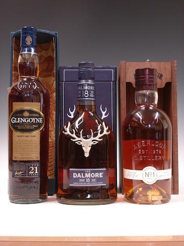 Glengoyne-21 year old  Dalmore-18 year old  Aberlour Warehouse No. 1-14 year old-1976