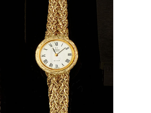 Omega: An 18ct gold lady's wristwatch 1970s