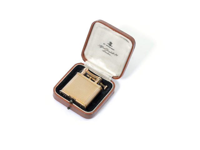 9 carat gold dunhill lighter, cased