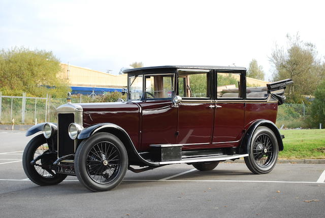 1927 Daimler 16/55hp Type L Landaulette  Chassis no. 63955 Engine no. A4/A5/74629