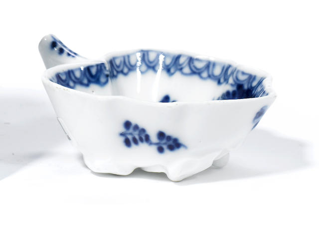 A small Meissen leaf-shaped dish circa 1730