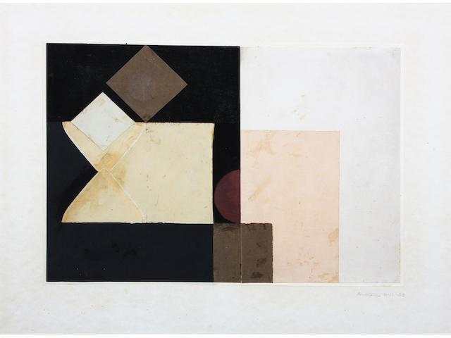 Anthony Hill (British, 1930) 'Construction' 34 x 47.5cm.
