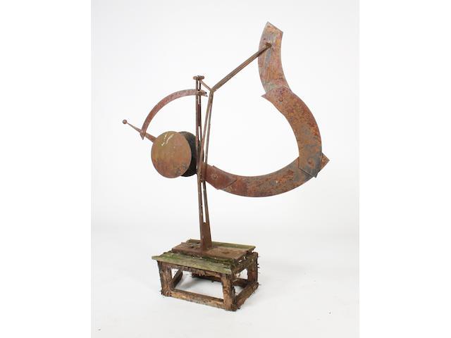 Bryan Kneale RA (British, 1930) 'Time Balance' 183cm. high (including base)