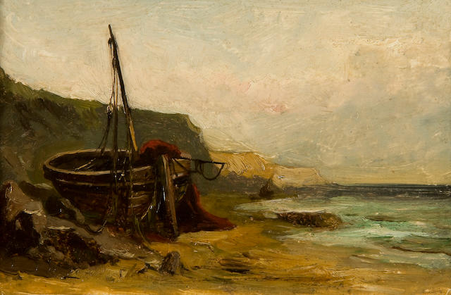 Thomas Smythe (British, 1825-1906) 'On the beach, Dunwich, Suffolk'