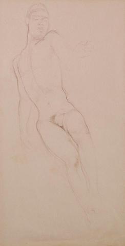 Justin Maurice O'Brien (Australian, 1917-1996) Male nude