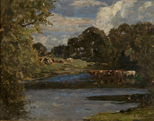 Campbell Archibald Mellon (British, 1876-1955) 'Late September, Hopton about 12 noon'