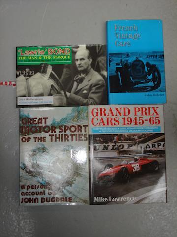 Four motoring books,
