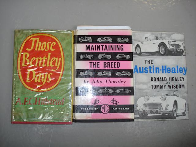 Three books on British sports car manufacturers,