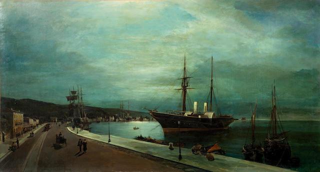 Constantinos Volanakis (Greek, 1837-1907) 62.5 x 115 cm.