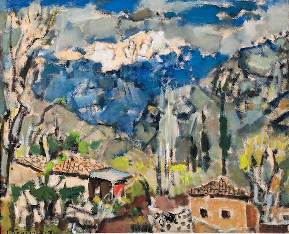 Yiannis Spyropoulos (Greek, 1912-1990) View of Helmos 48 x 58 cm.