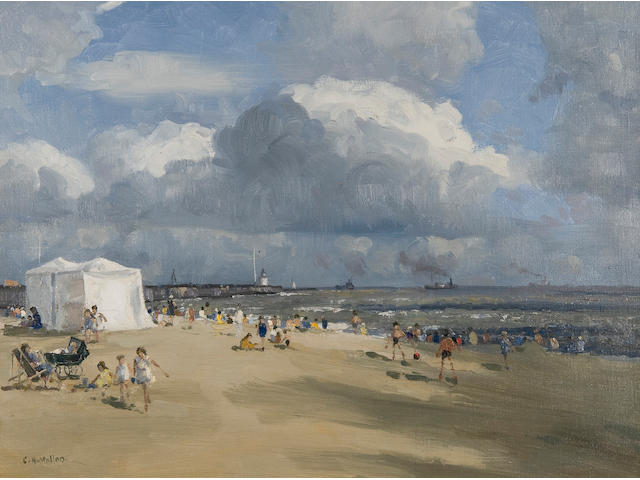 Campbell Archibald Mellon (British, 1876-1955) Gorleston Beach