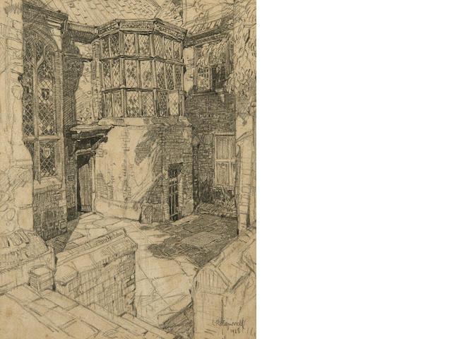 Leonard Russell Squirrell, R.W.S., R.I., R.E. (British, 1893-1979) The Oriel Windows, Stranger's Hall, Norwich