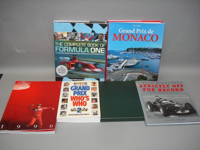 Six books relating to motor racing,
