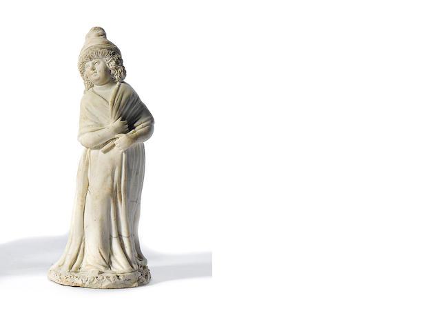 A Naples, Real Fabbrica Ferdinandea, biscuit porcelain figure of a woman, circa 1790-1800