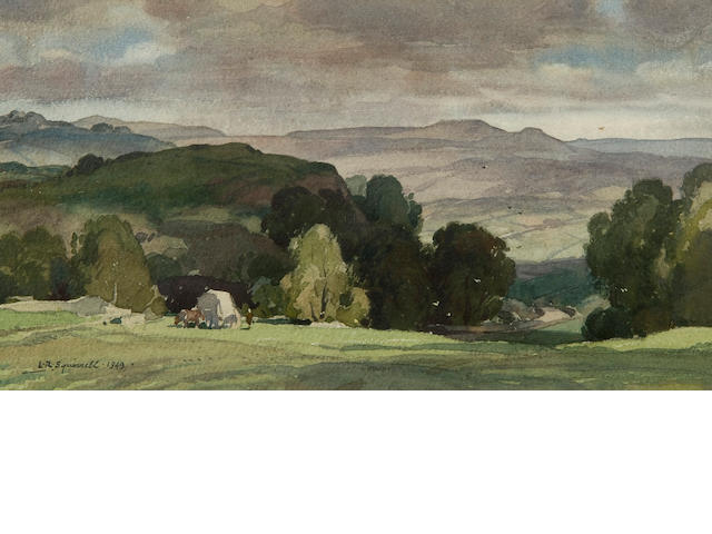 Leonard Russell Squirrell, R.W.S., R.I., R.E. (British, 1893-1979) 'Shadowed Hill, Near Yougreave, Derbyshire'