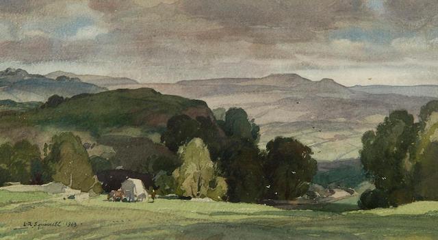 Leonard Russell Squirrell, R.W.S., R.I., R.E. (British, 1893-1979) 'Shadowed Hill, Near Yougreave, Derbyshire'