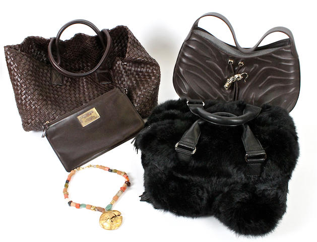 Three designer handbags