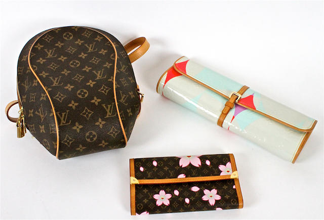 A group of monogrammed Louis Vuitton accessories