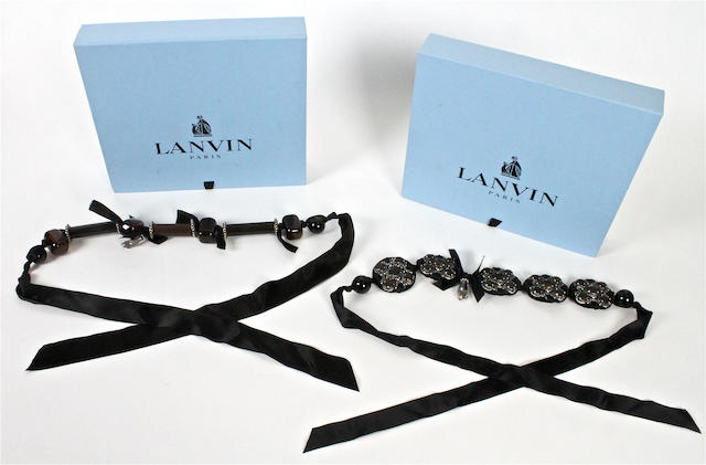 LANVIN: Two Lanvin necklaces