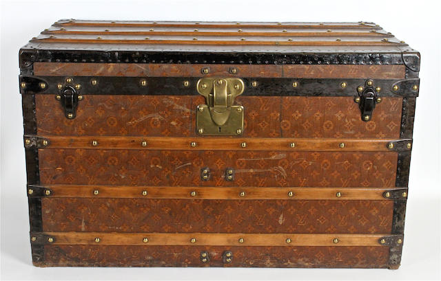 An early 20th century monogrammed Louis Vuitton trunk